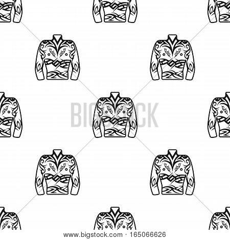 Body tattoo icon black. Single tattoo icon from the big studio black. - stock vector