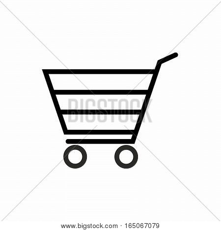 Shopping cart icon vector design isolated on white background.