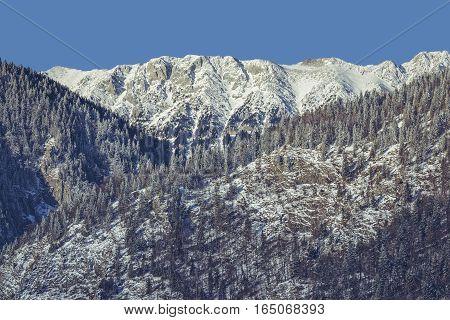Snowy Piatra Craiului Mountains