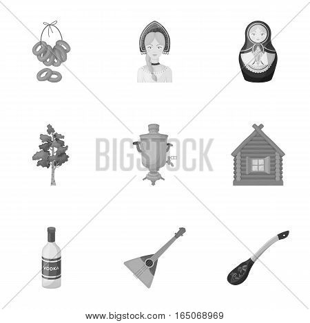 Russia country set icons in monochrome design. Big collection of Russia country vector symbol stock illustration
