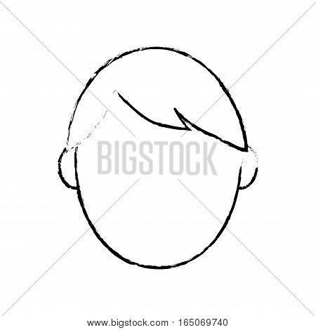 Man head faceless icon vector illustration graphic design