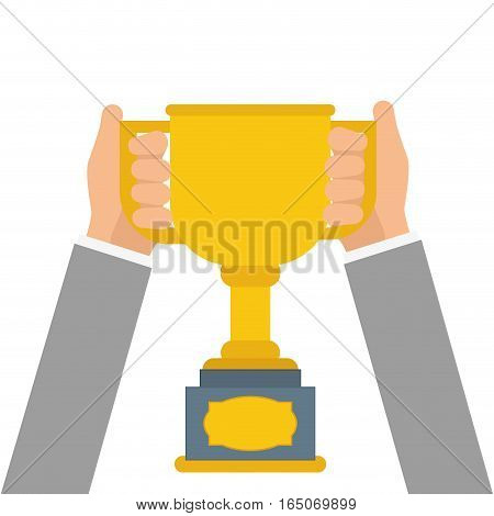 Champion trophy cup icon vector illustration graphic design