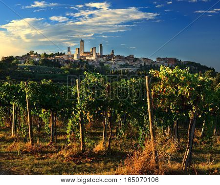 San Gimignano is a commune in Tuscany Italy