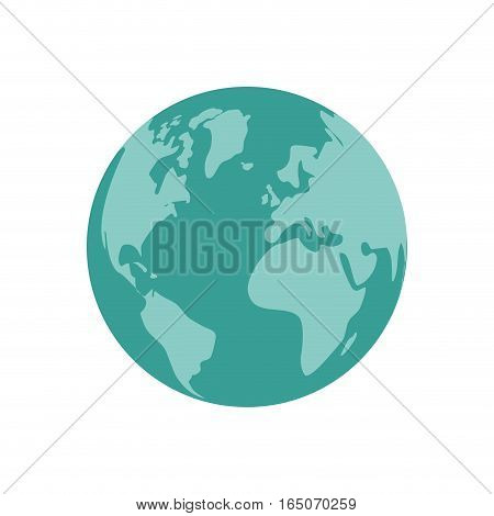 Isolated world earth icon vector illustration graphic design