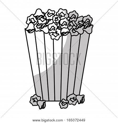popcorn bucket icon over white background. vector illustration