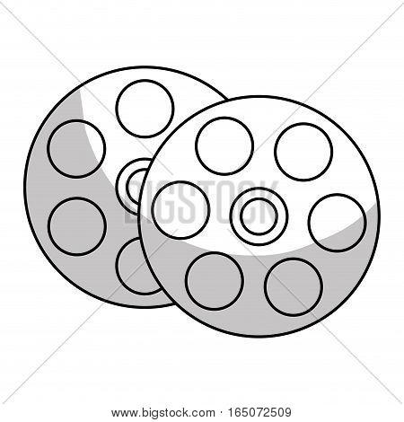 film reel icon over white background. vector illustration