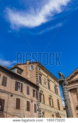 Piazza Tolomei In Siena, Italy