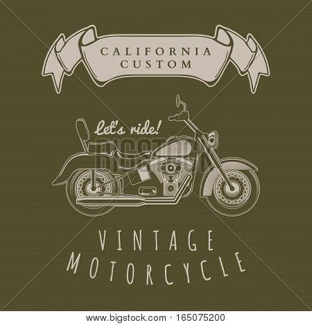 Motorcycle vintage graphics, t-shirt typography, Vintage vector illustration