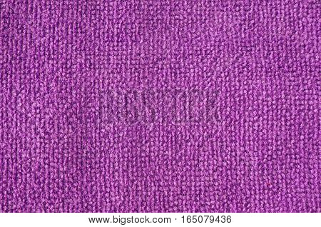 Violet microfiber cleaning cloth surface texture background