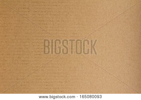 Closed up of brown cardboard paper background