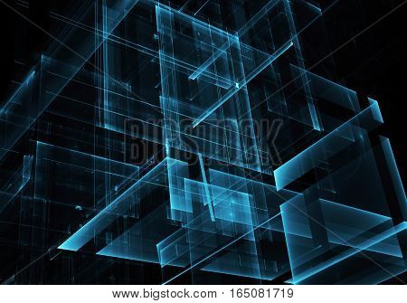 Computer generated abstract modern image. Three-dimensional fractal texture