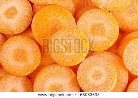 background of carrot slices. background of carrot slices.