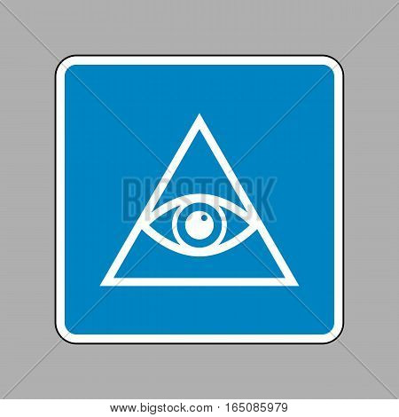 All Seeing Eye Pyramid Symbol. Freemason And Spiritual. White Ic