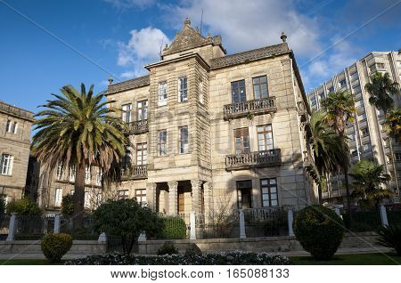 Villa Pilar ,Pontevedra , Galicia, Spain. This small palace was built in XIX century and is located next to the Vicenti Gardens