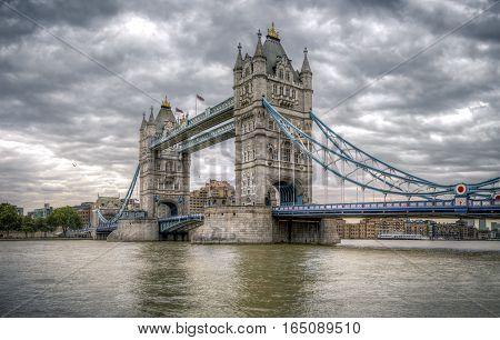 Tower Bridge and river thames in London UK
