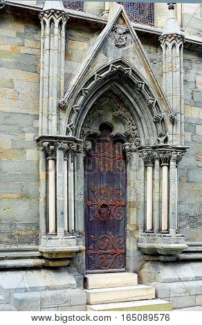 Norway Trondheim. Cathedral of St. Olaf sometimes called