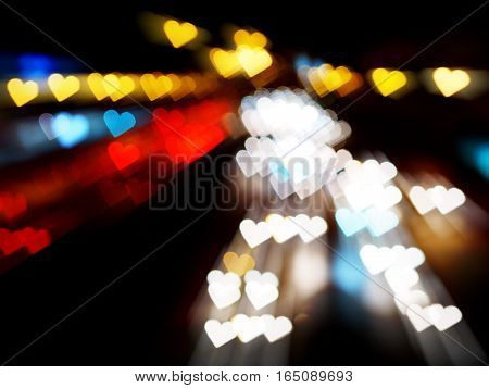 blurred heart bokeh abstract for Valentine's day background