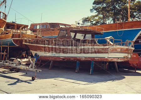 Repair Of Wooden Boats And Yachts, Dry-dock