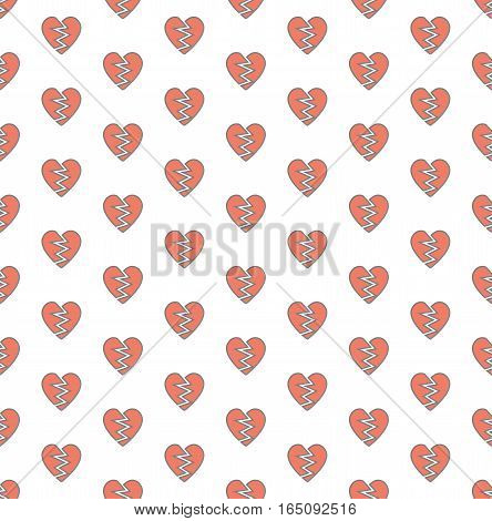 broken heart design pattern background,vector Illustration EPS10