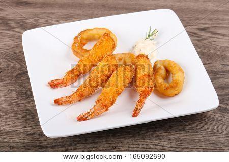 Squid And Shrimp Tempura