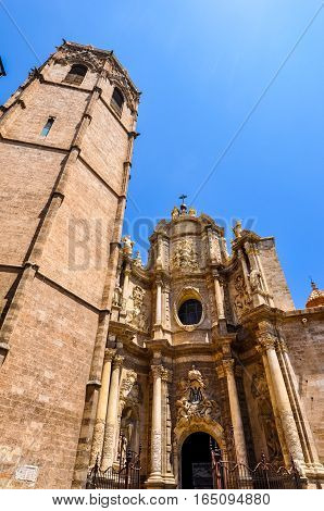 Hdr Saint Mary Cathedral In Valencia