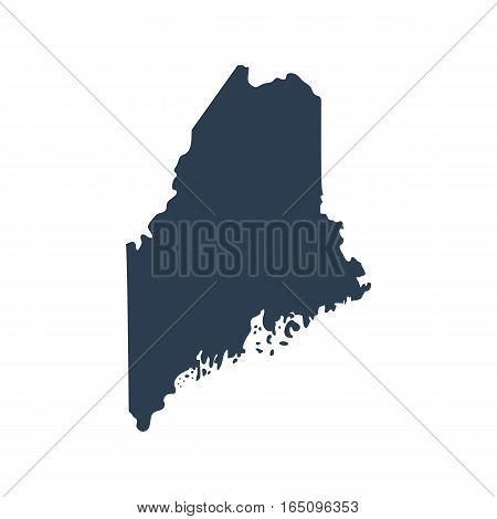 map of the U.S. state of Maine vector