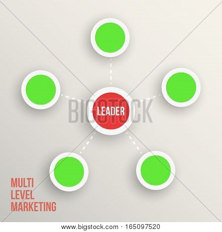 Multi level marketing Leader diagramm  vector illustration