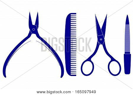 Manicure accessories. Vector illustration isolated on white background