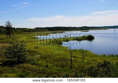 Bølling, Bolling, lake, Engesvang, Denmark, on a summers day