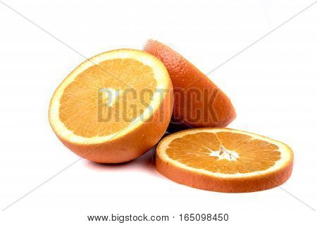 A selection of oranges isolated on white