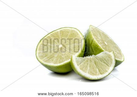 Two halves of a lime & segment