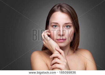 Young Natural Woman With Great Skin Complexion