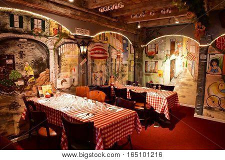 Carmel USA - july 14 2016 : an swiss restaurant