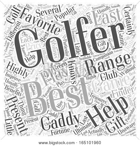 Best Present for Golfers Word Cloud Concept