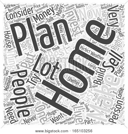 Best Selling Home Plan Word Cloud Concept
