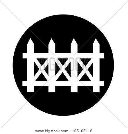 an images of Or pictogram fence icon poster
