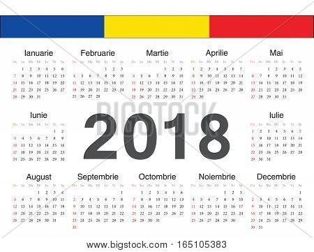 Vector Romanian Circle Calendar 2018