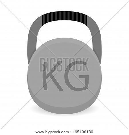 Weight icon vector. Heavy weight iron for power gym illustration