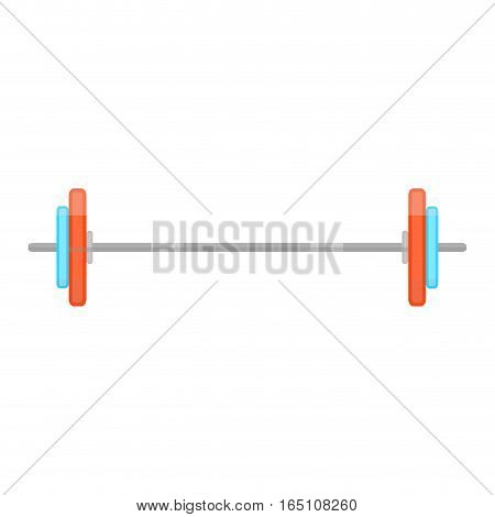 Barbell flat vector. Color barbell for gym fitness illustration
