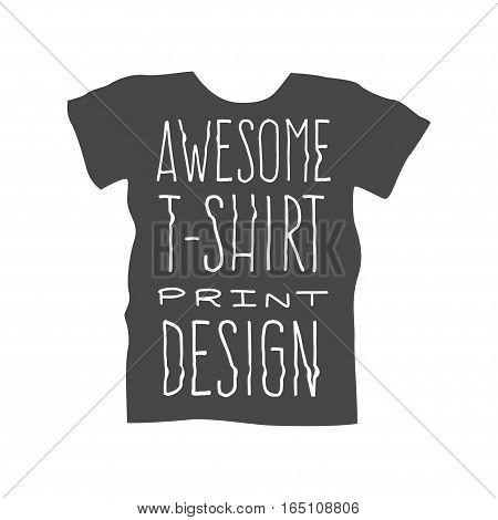 Men t shirt design template, vector illustration