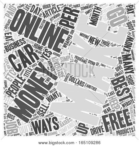 Best Ways To Make Money Online Word Cloud Concept