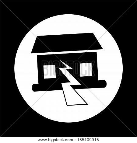 an images of Or pictogram Earthquake Symbol icon