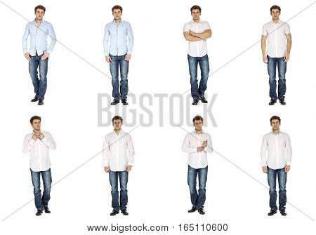 Casual Clothing Concept - Same Model In Different Style Clothes