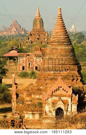 The archaeological site of Bagan on Myanmar