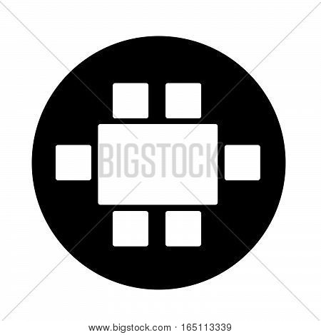 an image pictogram Top View Dinning Furniture Icon