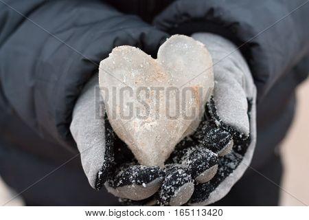 Ice Heart In Hands