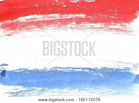 Watercolor french flag abstract banner of France