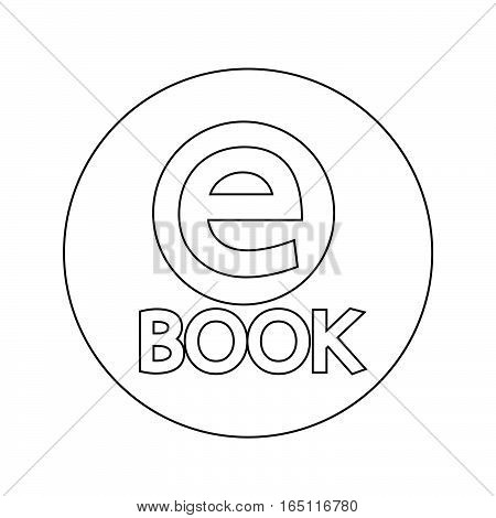 an images of E-Book icon illustration design
