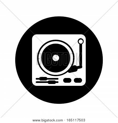 an images of Or pictogram turntable icon illustration design