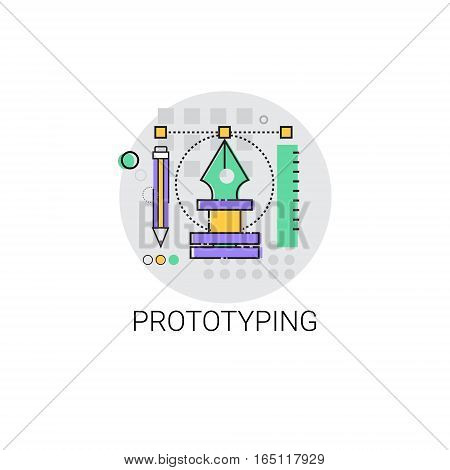 Prototyping Innovation Building Creation Icon Vector Illustration
